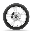 motorcycle wheel 02 vector image vector image