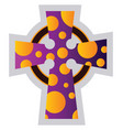multicolor celtir cross religion ilustration on a vector image vector image
