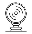 museum siren icon outline style vector image