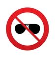 No Aviator sunglasses sign icon Pilot glasses vector image vector image