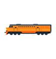 orange train railway locomotive railroad vector image vector image