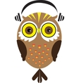 Owl with Headphones vector image