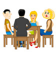 people sit at the table vector image vector image