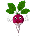radish cartoon thumbs up vector image vector image