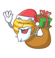 santa with gift planet venus isolated with on vector image