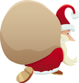 santa with sack cartoon vector image vector image