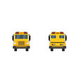 school bus in flat design school bus yellow view vector image
