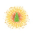 shine tree vector image