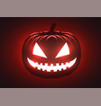 silhouette scary pumpkin halloween party vector image vector image