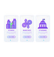 smart city thin line icons set city services vector image