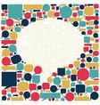 Social media talk bubble texture vector image vector image