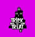 trick o treat design vector image vector image
