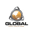 trilogy global logo designs vector image