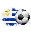 Uruguay Soccer Grunge vector image