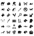 veterinarian icons set simple style vector image vector image