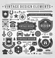 vintage labels and badges design elements vector image