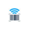 wifi barcode logo icon design vector image
