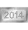 2014 of gun bullets holes vector image