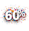 60 sale sign vector image vector image