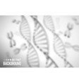 abstract background dna molecule with x vector image