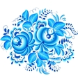 Abstract floral element in gzhel style vector image vector image