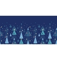 Abstract holiday Christmas trees horizontal vector image vector image