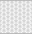 abstract seamless floral pattern with grey flowers vector image vector image