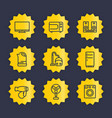 appliances line icons set vector image vector image