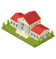 bank building isometric view vector image vector image