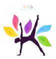 Beautiful woman doing yoga vector image vector image