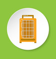 bird travel cage icon in flat style vector image