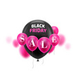 black friday sale balloons vector image vector image
