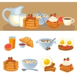 breakfast food set vector image vector image