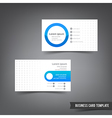 Business Card template set 028 blue and grey layer vector image vector image