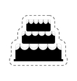 cake bakery dessert celebration party pictogram vector image vector image