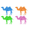 camel colored set polygonal vector image vector image
