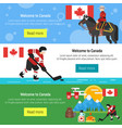canada template for web banner or poster vector image vector image