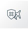 cancellation insurance icon line symbol premium vector image vector image
