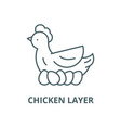 chicken layer line icon chicken layer vector image