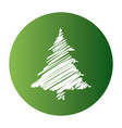 christmas tree drawing white style vector image vector image