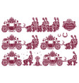 cinderella carriage vector image