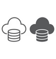cloud computing line and glyph icon vector image vector image