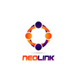 colorful people link logo sign symbol icon vector image vector image