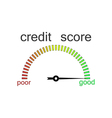 Credit score gauge credit request vector image
