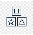 cubes toy concept linear icon isolated on vector image