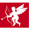 Cupid silhouette isolated on white vector image