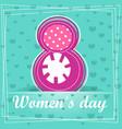 cute cartoon greeting card happy women s day vector image vector image
