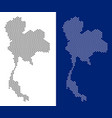 dotted thailand map vector image vector image