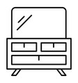 dresser thin line icon table with mirror vector image vector image