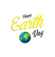 earth day poster banner or greeting card earth vector image